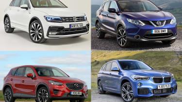 新的交叉比较:VW Tiguan vs日产Qashqai和竞争对手